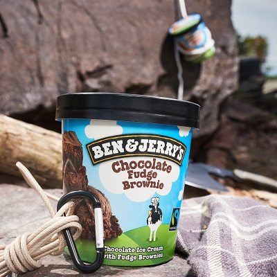 Prevent freezer burn of your Ben & Jerry's by cutting pint to serve.
