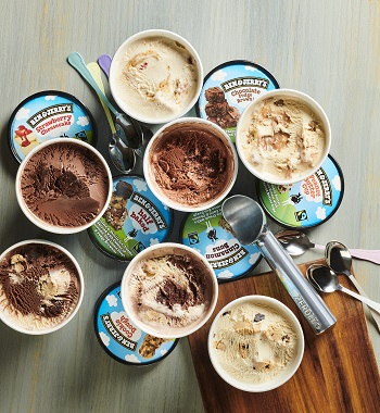 Prevent freezer burn of your Ben & Jerry's by putting it in the back of the freezer.