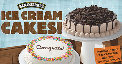 Introducing NEW Ben & Jerry's Ice Cream Cakes!