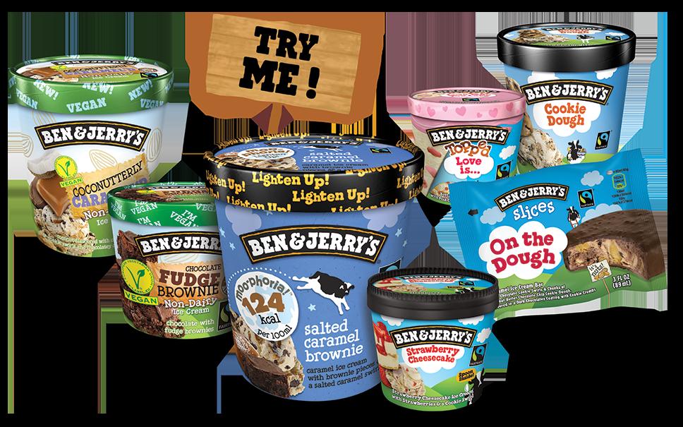 Ben & Jerry's Ice Cream collage packs