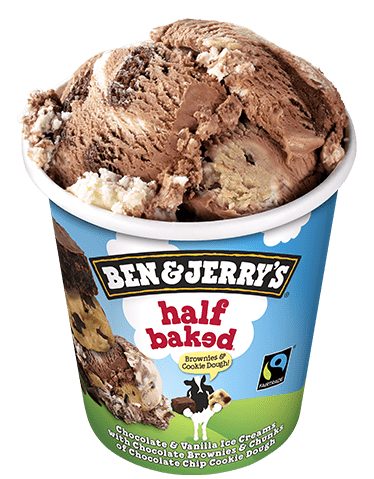 half baked eiscreme ben jerry s. Black Bedroom Furniture Sets. Home Design Ideas