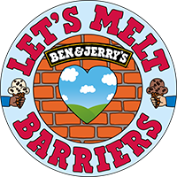 Ben & Jerry's Lets Melt Barriers Logo